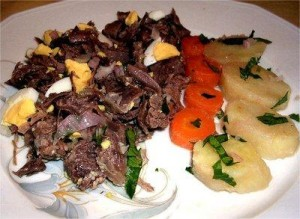 Recette de cuisine à base de viandes