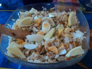 recette de cuisine salade de haddock au fruit de la mer