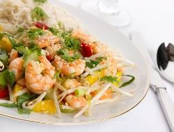 Recette de cuisine thaie et de nouilles aux crevettes