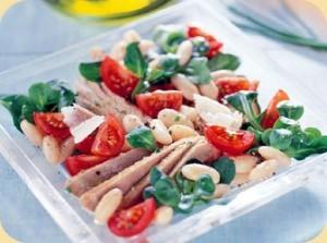 recette de cuisine aux haricots et au thon façon toscane