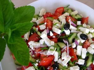 recette de crudités à la grecque
