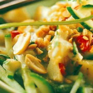 recette de salade pomme de terre, radis et concombre