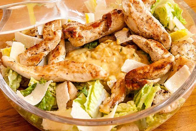 Recette de salade Caesar poulet